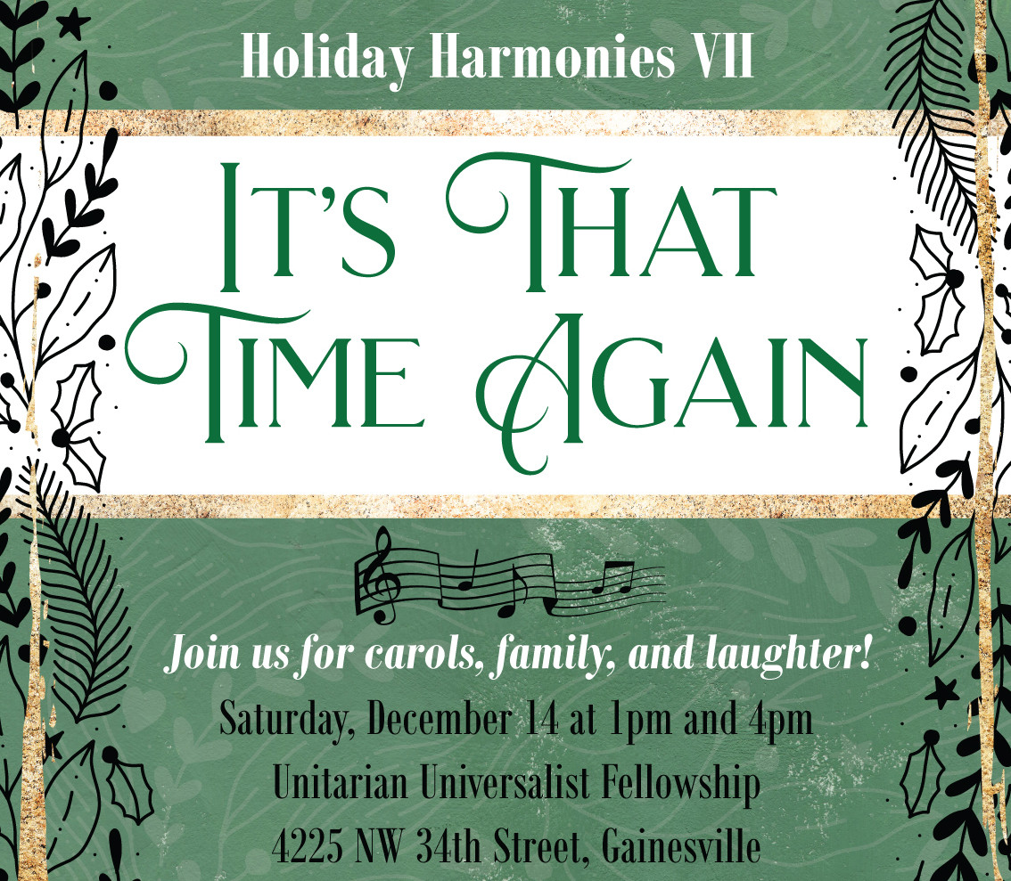 Christmas Show flyer Holiday Harmonies VII December 14 2020 1:00pm and 4:pm
